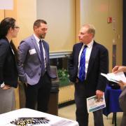Dr. Schenk with Club Staffing Alumni