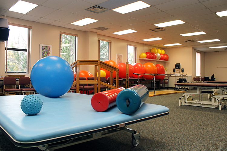 physical therapy class equipment