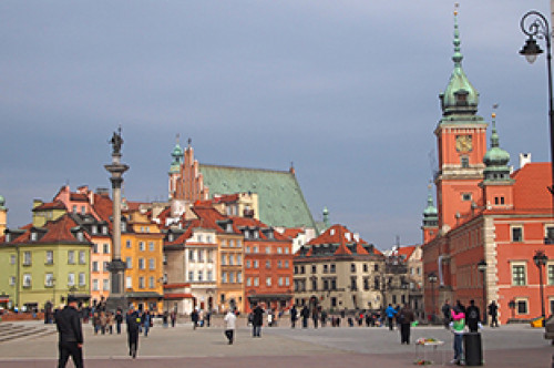 Roof top photo of Warsaw Poland