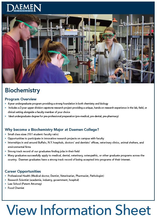 Biochemistry, B.S. | Daemen College
