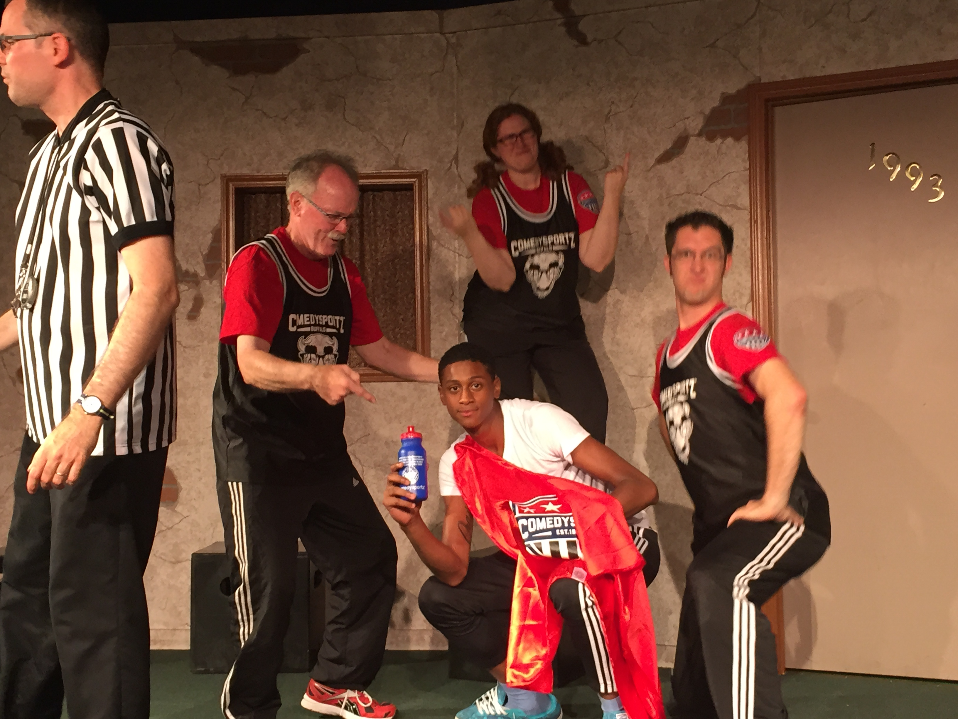 Student participates as actor in improv club