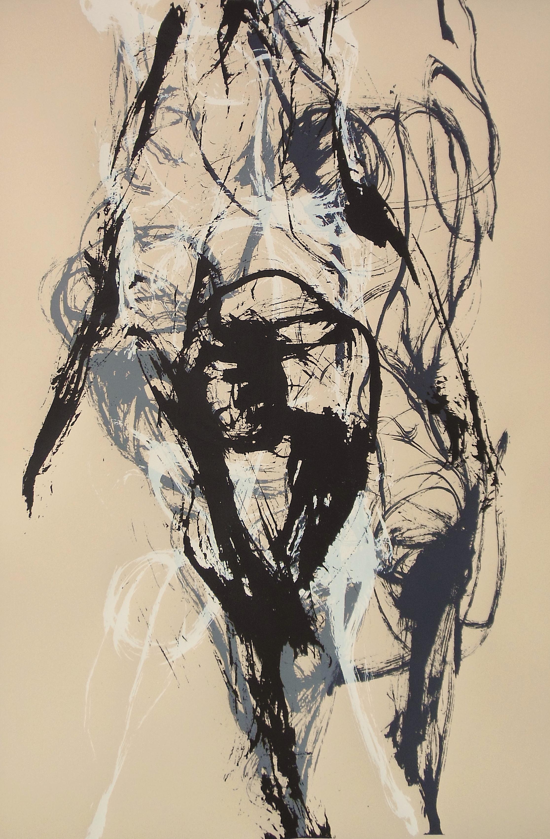 """Michael Parker, """"Four Dancers,"""" 2017, Serigraph Print"""