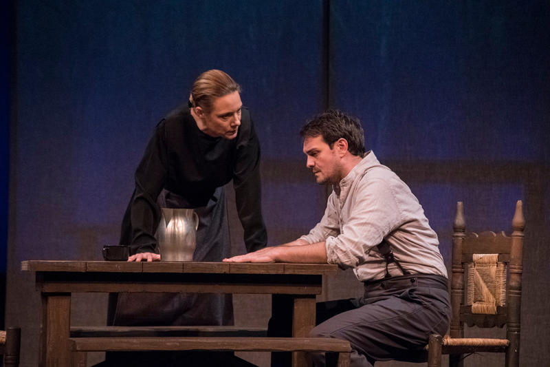 """Scene from """"The Crucible,"""" directed by Robert Waterhouse, Kavinoky Theatre, Fall 2017"""