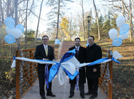 Footbridge Ribbon Cutting